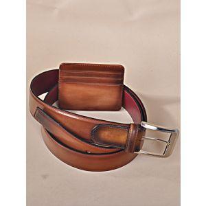 SET Brown Belt & Card Holder